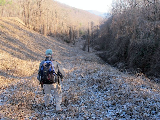The hike will cross Swannanoa Creekseveral times along a rocky path, so hikers are advised to wear sturdy hiking boots and bring hiking poles.
