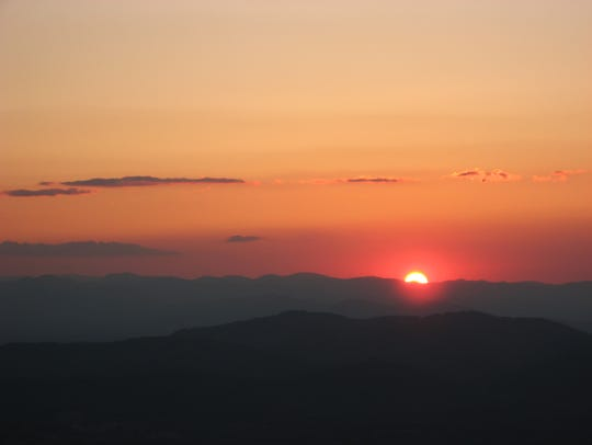 Sunset from Bearwallow Mountain in the Hickory Nut
