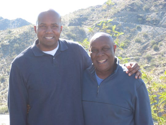 Chris Jones, left, with his father, C.C. Jones.