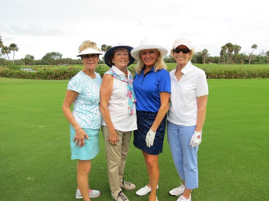 Muffe VanEpps, left, Rita Murphy, Mary Ellen Brophy and Anne Warhover at the Nine & Shine Tournament held Nov.13at the Vero Beach Country Club. Introduced this year, the Nine & Shine Tournament counted 32 women playing a fun, nine-hole event. Sandy Johnson's team won the Nine & Shine Tournament with Regina Keeley, Kate Khanna and Cindy Rounsavall.
