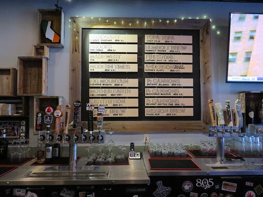 The opening-day tap list at The Local in Camarillo