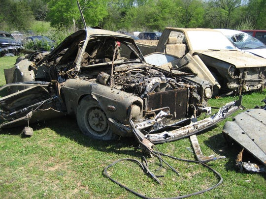 A late 1980s Jaguar recently recovered from Old Hickory Lake in Wilson County.