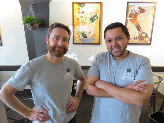 Former colleagues turned co-owners Don Hull (left) and Doug Hernandez are the faces behind Ojai Bowls, now open in the Mira Monte area of the Ojai Valley.