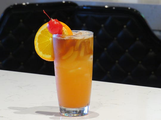Cocktails at The Shores in Oxnard include the Sailor Jerry vs. Kracken Rum Mai Tai, which features a float of the latter.