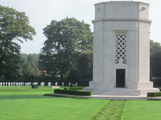 The chapel at Flanders Field American Cemetery.