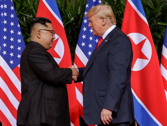 AP TRUMP KIM SUMMIT I SGP