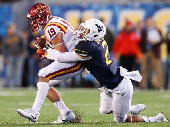Iowa State Cyclones wide receiver Trever Ryen (19)