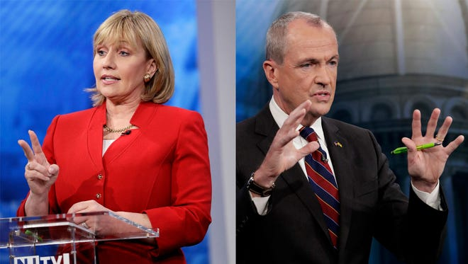 Kim Guadagno and Phil Murphy will meet Tuesday night in the first of two televised debates.