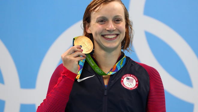 American swimmer Katie Ledecky won four gold medals and a silver in Rio.