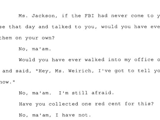 Transcript in Andrew Thomas case