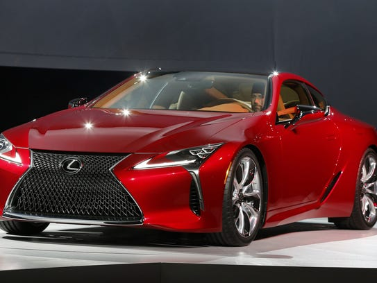 The Lexus LC500 debuts  Jan. 11, 2016.