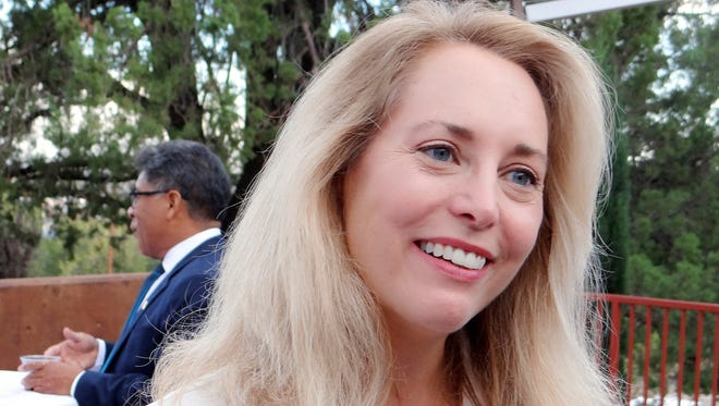 Valerie Plame Wilson does a meet and greet at Western New Mexico University.