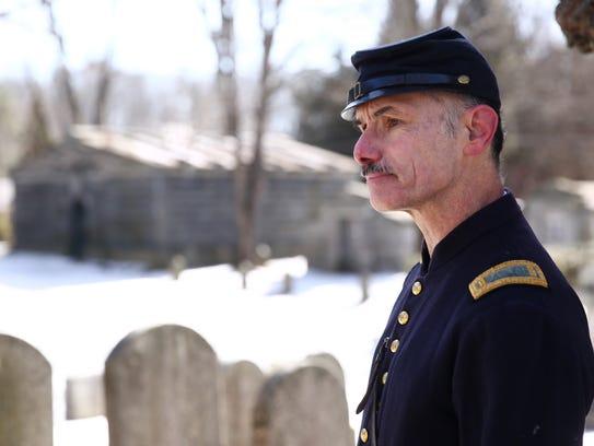 Peter Bedrossian is a reenactor dressed as Lieutenant
