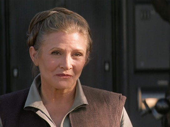 "Fisher as Leia again in 2015's ""The Force Awakens."""
