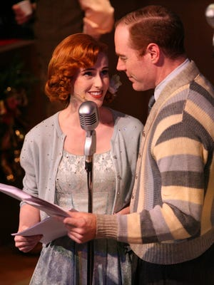 """Jen Ridgway and Kevin Ellis take center stage in """"It's A Wonderful Life: The Radio Play"""" at the Simi Valley Cultural Arts Center through Dec. 23."""