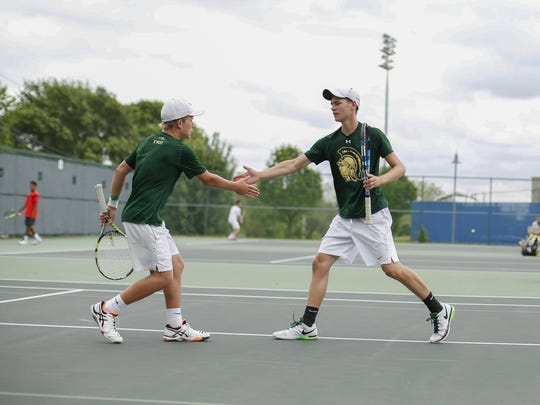 Jack Wenzel and Cole Schneider finished runners-up in state doubles this season for the West High boys tennis team.