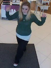 A security photo taken earlier this month of a woman believed to be involved in a theft at Ulta Beauty store in Carson City.