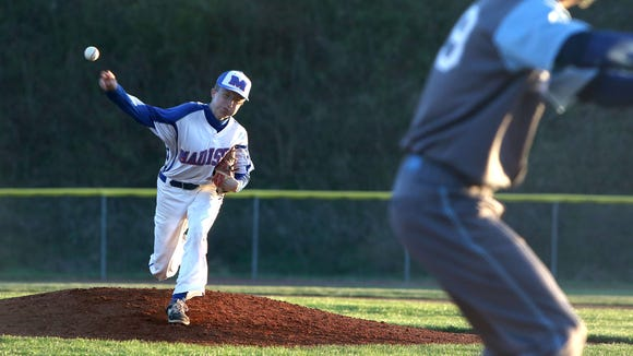 Hunter Burnette pitched a 13-strikeout, one-hitter for the Madison baseball team on Monday night.