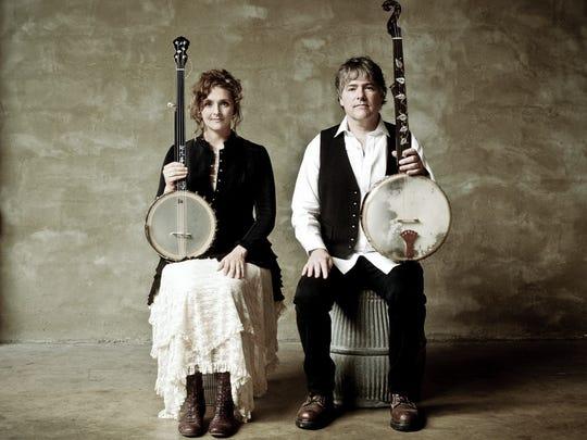 Abigail Washburn and Bela Fleck perform at Turner Hall Ballroom Tuesday.