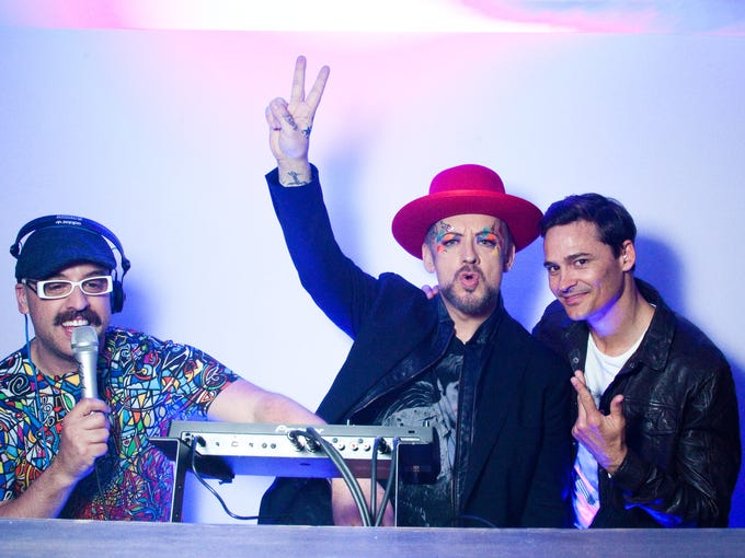 Pop culture icon, Culture Club member and DJ, Boy George and Marc Vedo were in the booth at the 'Whipped at Derby' party hosted by PLAY Louisville on Friday, May 2, 2014. Boy George is currently touring the world.