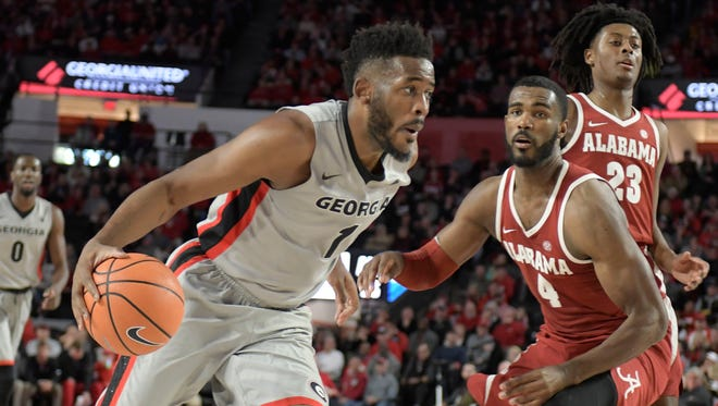 Senior forward Yante Maten (1) finished his amazing college career as Georgia's second all-time leading scorer.