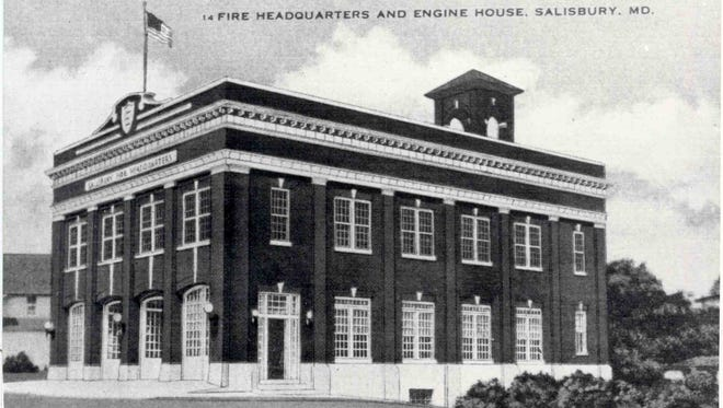 c. 1915, FIRE HEADQUARTERS AND ENGINE HOUSE, SALISBURY, MD.