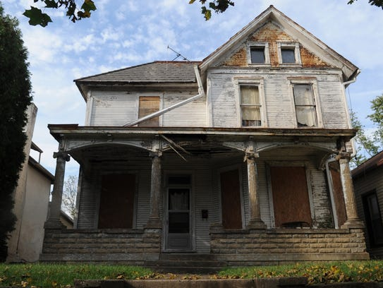 A home has fallen into disrepair on Second Street.