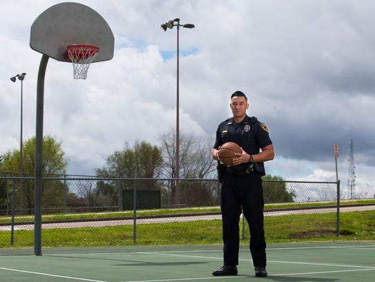 Springfield Police Officer JJ Tauai played NCAA basketball