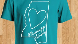 Designer Lauren Buntin created shirts bearing the logo Mississippi Strong.