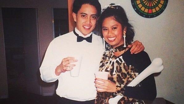 Junior and Raela Villanueva, 1993.