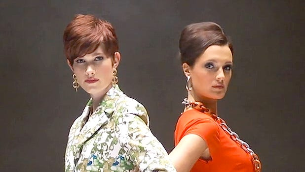 Nicole McFarland and Kasey Cole are Fashion Week models.
