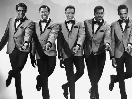 The Temptations (from left) David Ruffin, Otis Williams,