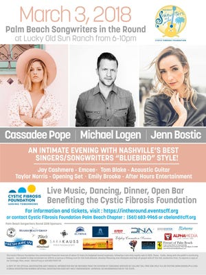 Cassidy Taylor. age 14, who has Cystic Fibrosis, took part in this Palm Beach Songwriters in the Round event recently in the Jupiter area.