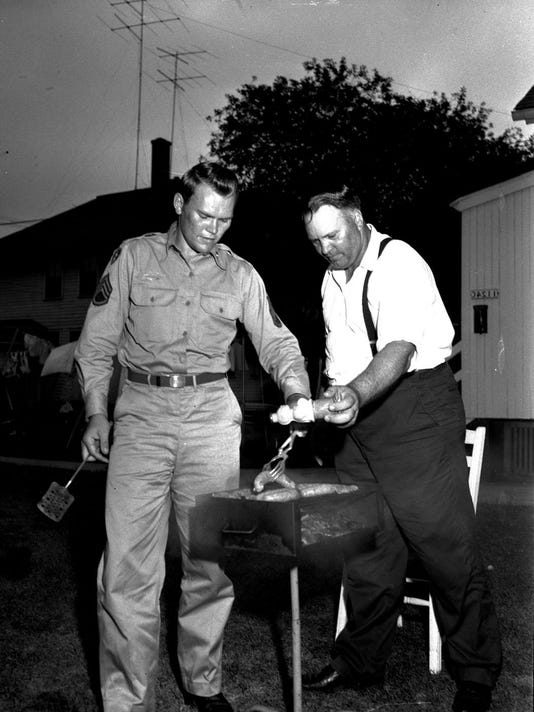 #4 Sgt Gore at home 9-1-1953