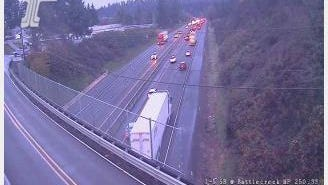 Multiple car crashes are delaying traffic on Interstate-5 South on Wednesday, Nov. 22, 2017.