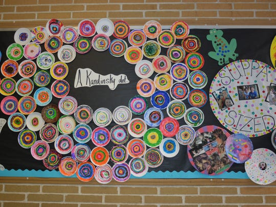 Winslow School students created artwork inspired by dots.