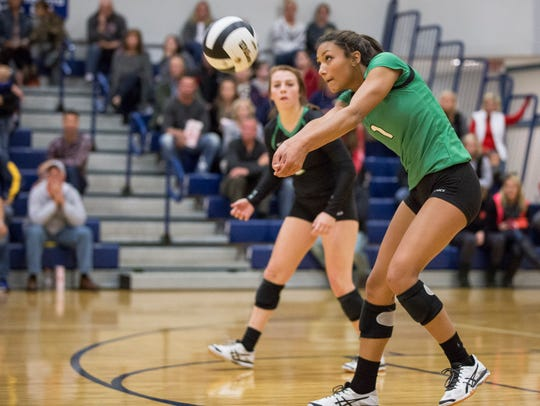 Yorktown's Kenzie Knuckles returns the attack from