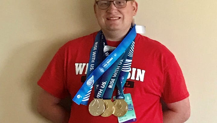 Manitowoc man brings home two golds, other medals from Special Olympics USA Games