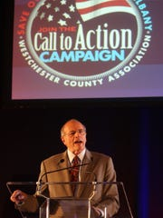 """DelBello speaks at the """"Call to Action Campaign"""" rally"""