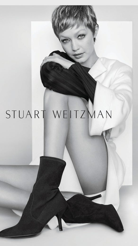 Gigi Hadid Debuts Pixie Cut In Stuart Weitzman Campaign