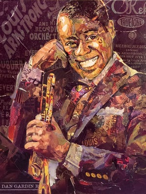 "A live auction of the signature painting ""Louie Armstrong, 1932,"" created and donated by Dan Gardiner of Madison, will be featured at the 13th Annual Cheese Capital Jazz & Blues Crawl on Friday, August 12."