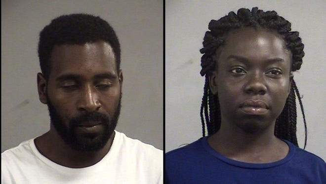 Terrance Cureton, left, and Shanese Harrison, right, are accused of driving a stolen vehicle.