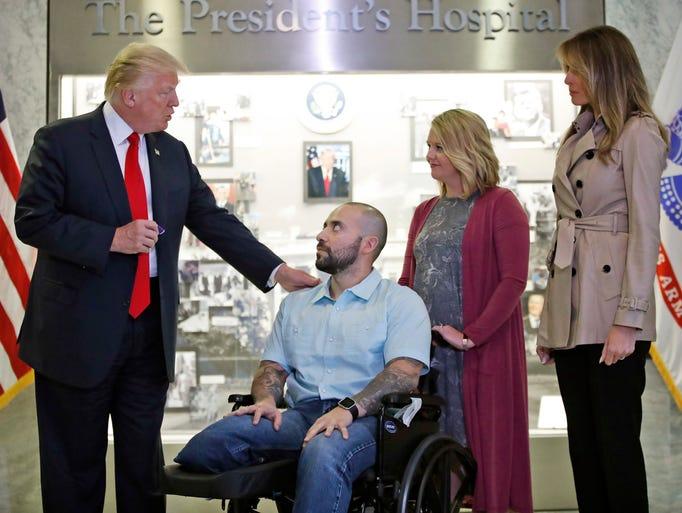 Trump prepares to award a Purple Heart to U.S. Army