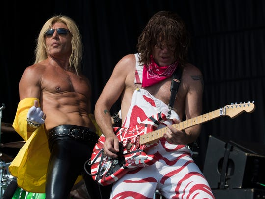 """Members of the Van Halen tribute band """"Completely Unchained"""""""