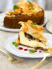 Baklava Cheesecake from America the Great Cookbook
