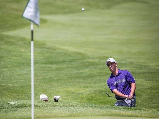Central's Brody McCoy competes in regionals at The