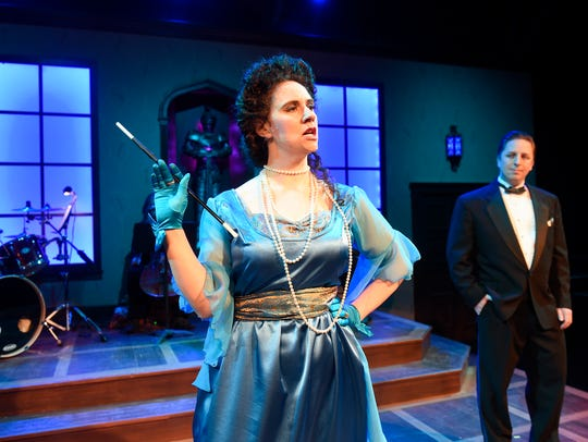 Heather Mastromarco performs the role of Mrs. Peacock