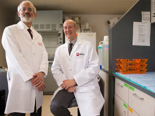 Dr. Kenneth White, Professor of Medical and Molecular Genetics, and Dr. Michael Econs, Director of the Division of Endocrinology and Metabolism at Indiana University. Their work has yielded a new FDA-approved drug to treat X-linked hypophosphatemia, a rare form of rickets.