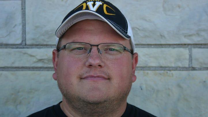 Springs Valley football coach Justin Scheller