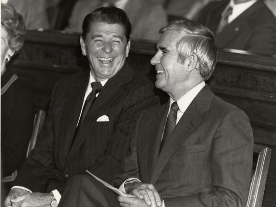 """Ronald Reagan materials found in the Paul Laxalt U.S. Senatorial Papers, housed in Special Collections & University Archives at the University of Nevada, Reno Libraries, showcase the friendship between the two politicians. """"Paul Laxalt's Reagan Years: Campaigns, Elections and the Road to the White House"""" is now open for use."""